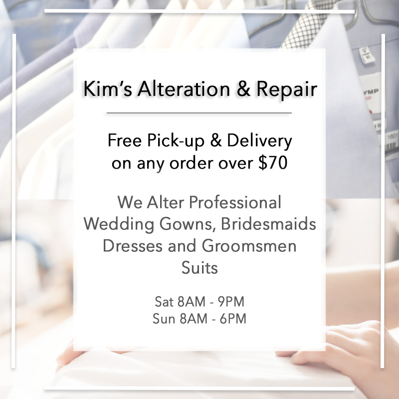 Alteration Pick Up & Delivery